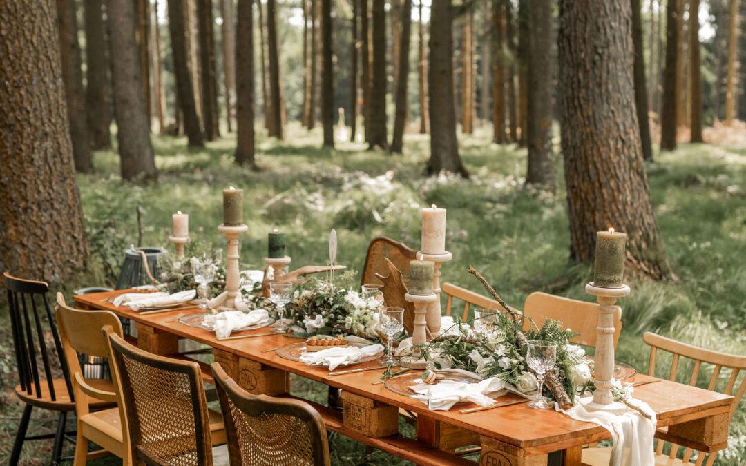 Styled Shooting: Romantische freie Trauung im Wald